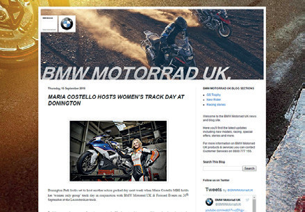 BMW Motorrad - Maria hosts Donington Track Day