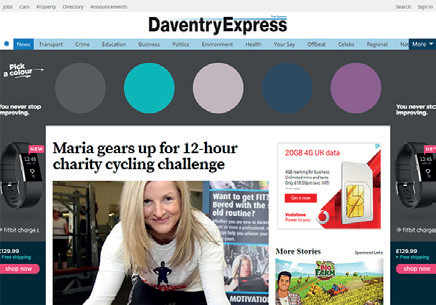 Daventry Express - Maria geared up for charity cycling challenge