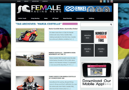Female Racing News - Maria's Archives