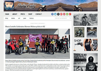 Moto Lady - Maria Celebrates in NZ