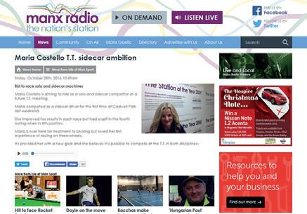Manx Radio - Maria''s TT Sidecar Ambition