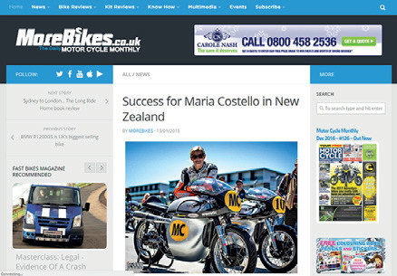 More Bikes - Costello Success in New Zealand