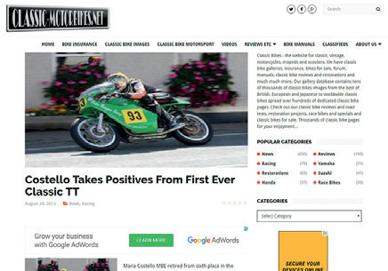 ClassicMotorbikes.net - First ever Classic TT